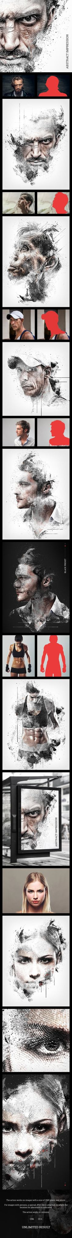 Abstract Impression Photoshop Action - GraphicRiver #BestDesignResources