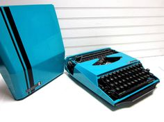 Vintage Typewriter Aqua Blue Smith Corona by GoodBonesVintageCo, $205.00