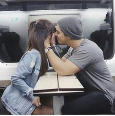 Couple | Love | Traveling together | Happiness with you | Relationship Goal | Kiss | Cute | Boy Girl