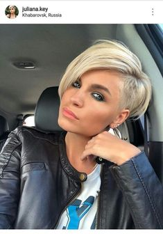 Today we have the most stylish 86 Cute Short Pixie Haircuts. We claim that you have never seen such elegant and eye-catching short hairstyles before. Pixie haircut, of course, offers a lot of options for the hair of the ladies'… Continue Reading → Short Hairstyles For Thick Hair, Short Pixie Haircuts, Short Hair Cuts For Women, Pixie Hairstyles, Short Hair Styles, Short Hair With Undercut, Undercut Pixie Haircut, Blonde Pixie Haircut, Short Asymmetrical Hairstyles