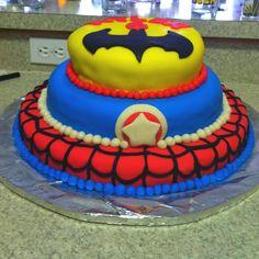 Superhero fondant cake!