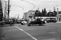 Looking northwest from the corner of Vermont Ave. and 3rd Street in the summer of 1941. In the distance is an apartment at 275 S. New Hampshire Avenue. (LAPL 00104348) Bizarre Los Angeles