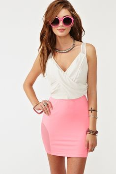 NASTY GAL Make Me Smile Top & x MINKPINK Jackie Skirt
