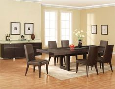 Stylish Black Dining Table Design With Black Chairs White Seat ...