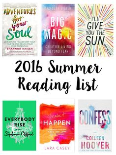 Today on Breakfast at Lilly's I am sharing my 2016 summer reading list. I can't wait to dive into all of these amazing reads.
