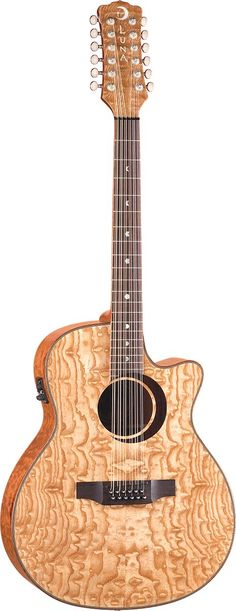 Luna Guitars Quilted Ash 12 String. 50% off May 15th! Purchase this acoustic guitar with preamp From April 15 - June 30, 2013 and you will receive your choice of a free acoustic amplifier.