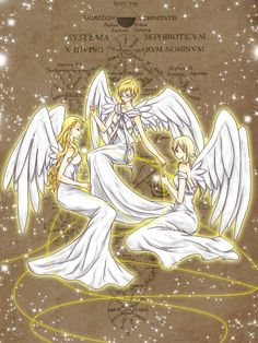 Aph Fem!Denmark, Fem!Sweden and Fem!Norway as angels~