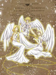Aph Fem!Denmark, Fem!Sweden and Fem!Norway as angels~