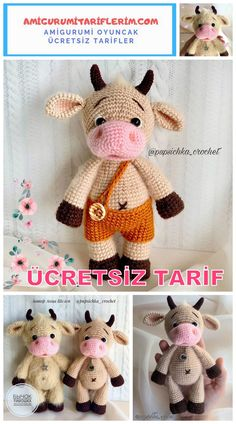 We bring you the latest recipes about amigurumi. In this article, amigurumi cow free pattern is waiting for you. Crochet Headband Pattern, Easy Crochet Patterns, Crochet Patterns Amigurumi, Amigurumi Doll, Crochet Dolls, Crochet Gratis, Free Crochet, Crochet Disney, Stuffed Animal Patterns