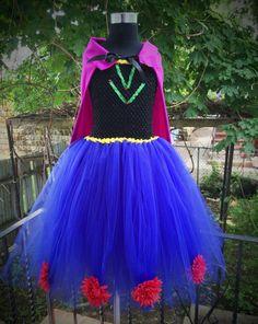 Anna Frozen Inspired Tutu Dress by Arribelle on Etsy, $51.00