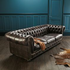 canap chesterfield 3 places cuir marron capitonn vintage choses acheter pinterest. Black Bedroom Furniture Sets. Home Design Ideas