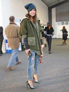 ミリタリー系コートの今年流着回しワザ:日経ウーマンオンライン【アラサー的ファッション戦略論】