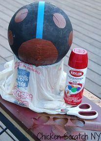 bowling ball gt ladybug garden upcycle, crafts, gardening, repurposing upcycling