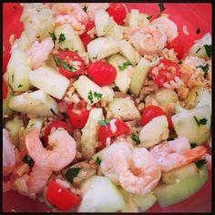 Healthy shrimp salad