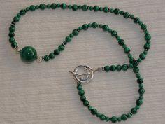 Malachite & Sterling Silver Necklace