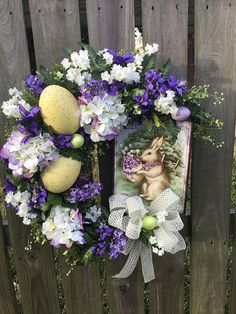 Check out this item in my Etsy shop https://www.etsy.com/listing/599220117/spring-wreath-easter-wreath-easter