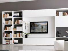 Mueble Modular De Pared Composable Con Soporte Para Tv Cube4 Mueble