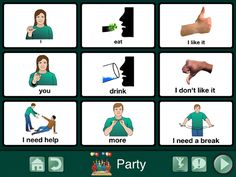 New post: Communication board for a party