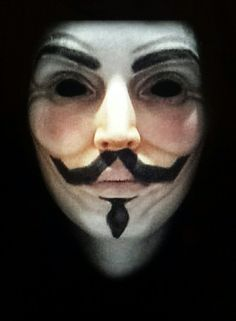 V for Vendetta mask makeup V For Vendetta Mask, Mask Makeup, Halloween Face Makeup, Paint, Picture Wall, Paintings, Draw, Color