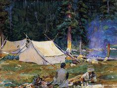 John Singer Sargent Paintings : Camping at Lake O-Hara 18 ...