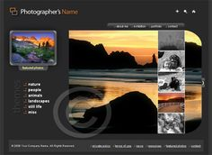 Photography website template #83 homepage