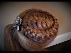 Французская Коса С Кружевной Оплёткой Peinado French Braid with a Lace Braid Wrap - YouTube