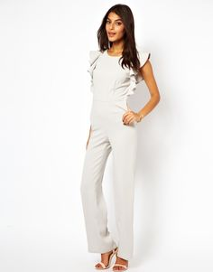 919eab9f2537 ASOS Jumpsuit with Ruffle Back. paired with a blazer   business fab!
