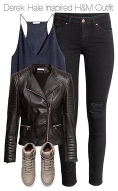 """""""Derek Hale Inspired H&M Outfit"""" by staystronng ❤ liked on Polyvore featuring H&M, Winter, derekhale and tw"""