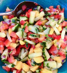 Like a fool, I planned regular meals for this week, so as a result I spend each evening roasting in my kitchen which catches the burning rays of hell from the late afternoon sun. Greatest Hits, Summer Salads, Salsa, Mango, Medicine, Ethnic Recipes, Kitchen, Blog, Manga