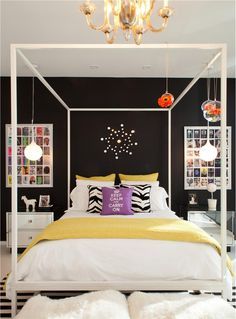 Modern, Retro Themed Bedroom.