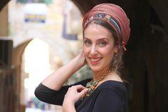 Rothem Authentic Headscarf TICHEL, Hair Snood, Chemo Snood, Head Scarf, Umber Head Covering, Jewish Headcovering, Scarf, Bandana, Apron https://etsy.me/2EFwSGL #accessories #hair #headband #brown #bronze #headbands