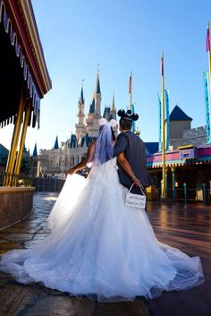 Disney Weddings Photography Magic Kingdom Bridal Portrait Session