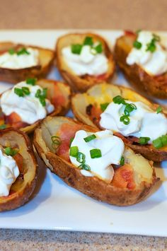 Cheesy Bacon Potato Skins by Pennies on a Platter, via Flickr