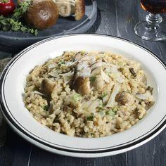 Risotto med champinjoner och gorgonzola