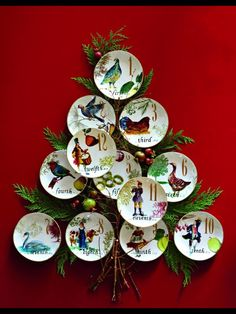 Williams Sonoma Christmas Plates.Williams Sonoma 12 Days Of Christmas Collection