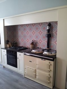 These beautiful red Vogue tiles from Original Style's Odyssey Grande range are usually used on floors, but look breathtaking as a splashback, injecting colour and vibrancy. Image submitted by The Original Tile Company, www.originaltilecompany.co.uk. Click the image for more information about these tiles.
