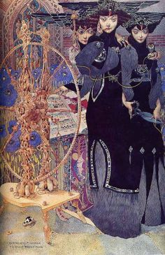 Les Parques, 1917 by Gustav Adolph Mossa