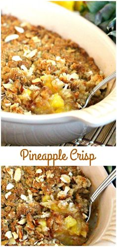 Enjoy a heaping helping of warm Pineapple Crisp with a generous scoop of vanilla ice cream for an all-occasion sweet treat. Radish Recipes, Fruit Recipes, Cooking Recipes, Healthy Recipes, Cantaloupe Recipes, Healthy Foods, Easy Recipes, Healthy Life, Vegetables