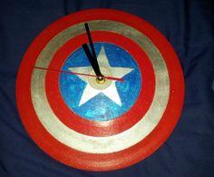 Captain America Shield Clock #home #decor #Avengers #Marvel #comic