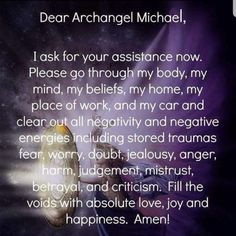 This is a newer version of the Prayer for Protection to Archangel Michael.When I say this prayer, I add in protection of bright light to surround me. I covered up Amen and replaced it because the only one you should ever say Amen to is The Father, The So Prayer Board, My Prayer, Daily Prayer, Reiki, Archangel Prayers, St Michael Archangel Prayer, St Michael Prayer, Spirit Guides, Spiritual Awakening
