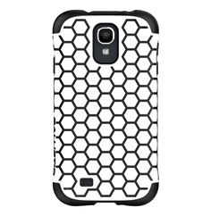 Ballistic Aspira Honeycomb Pattern Case for Samsung Galaxy S4 - Retail Packaging - White/Black. Dual-layer Case Provides Protective Design & A Fashionable Flair. Drop Protection & Style In 1 Case. Reinforced Corner Protection. High-polish Finish.