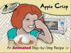 Apple Crisp - Animated Step-by-Step Recipe  Available in 3 formats: Regular, SymbolStix, PCS