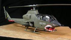Monogram 1/72 AH-1G Cobra w/ Cobra Company cockpit-detail set.