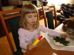 Ania mama Agnieszki: Liść z masy solnej