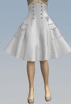 High Waist Steampunk Swing Skirt by Amber Middaugh 2015 50 Fashion, Lolita Fashion, Gothic Fashion, Womens Fashion, Fashion Design, Vintage Inspired Fashion, Swing Skirt, African Dress, Steampunk Fashion