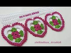 KALP ÇİÇEĞİ HAVLU UÇ DANTELİ YAPIMI | Nazarca.com Crochet Videos, Crochet Flowers, Crochet Earrings, Youtube, Crochet Triangle, Crochet Edging Patterns, Crochet Mandala, Crochet Edgings, Crochet Collar