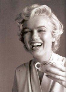 Marilyn drinking coffee