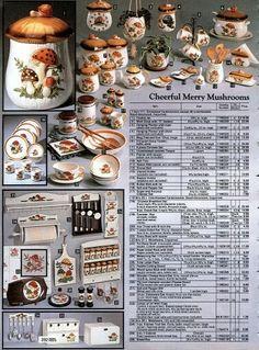 1980p1 Vintage Kitchenware, Vintage Dishes, Vintage Glassware, Vintage Soul, Shabby Vintage, Vintage Ads, Mushroom Decor, 70s Decor, Orange Kitchen
