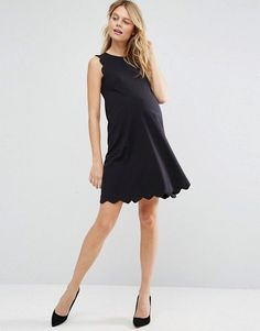 ASOS Maternity | ASOS Maternity Shift Dress With Scallop Detail