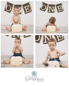 Boys First Birthday Cake, 1st Birthday Pictures, Baby Birthday, 1st Birthday Photoshoot, Baby Cake Smash, Birthday Photography, 1st Birthdays, 1 Year, Ideas